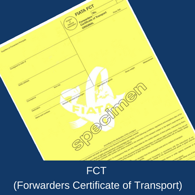 FCT (Forwarder's Certificate of Transport)
