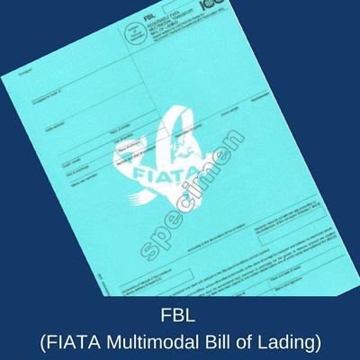 Negotiable FIATA Multimodal Transport Bill of Lading