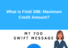 Field 39B: Maximum Credit Amount