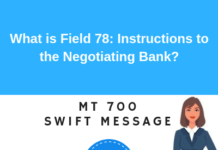 Field 78: Instructions to the Paying/Accepting/Negotiating Bank