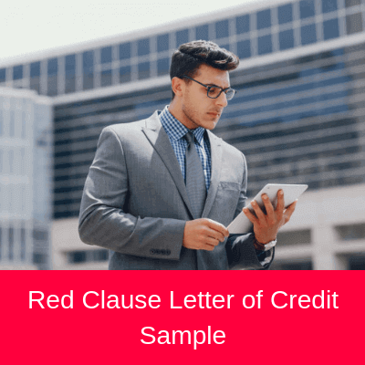 Red Clause Letter of Credit Sample