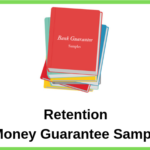 Retention Money Guarantee Sample