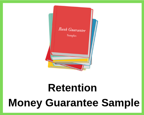 Retention Money Guarantee Sample