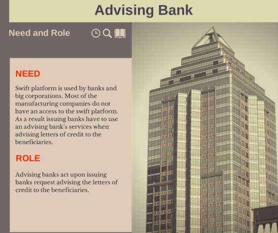 advising bank roles and responsibilities