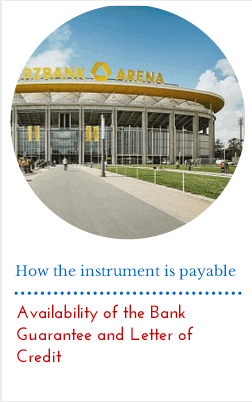 Availability of the Bank Guarantee and Letter of Credit