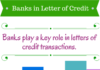 banks in letters of credit