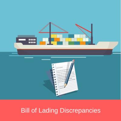 bill of lading discrepancies