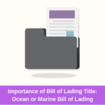 bill of lading title. ocean or marine bill of lading