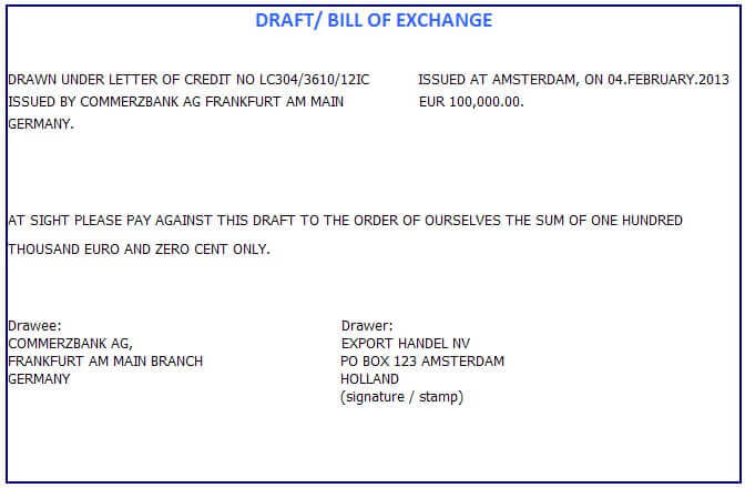 bill of exchange negotiation