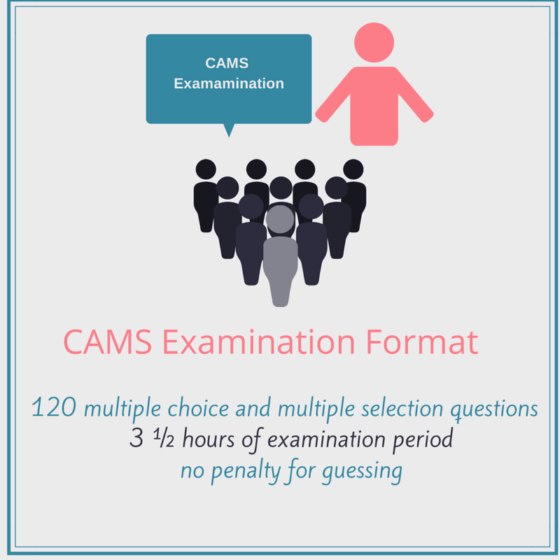 What is the CAMS Examination Format?