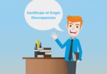 certificate of origin discrepancies