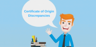 certificate of origin discrepancies