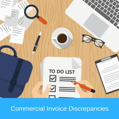 commercial invoice discrepancies