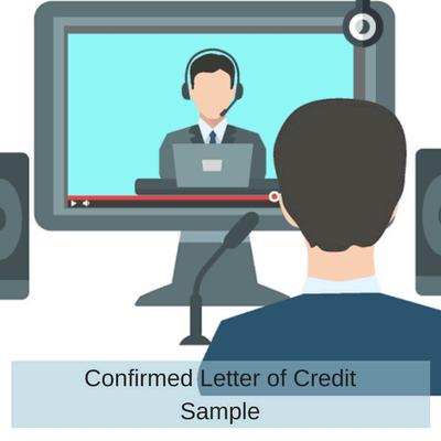 Confirmed Letter of Credit Sample