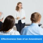 Effectiveness Date of an Amendment