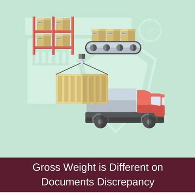 gross weight discrepancy