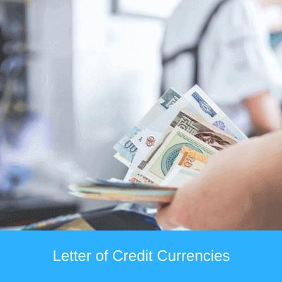 letter of credit cuurencies