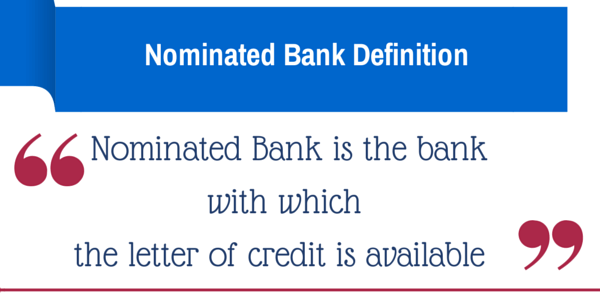 nominated bank definition