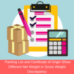 packing list discrepancy example related to gross weight