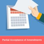 Partial Acceptance of Amendments