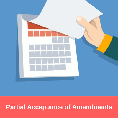 Partial Acceptance of Amendments