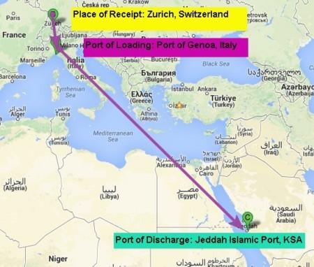 Multimodal Shipment Effected via Land and Sea Shipments