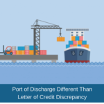 port of discharge discrepancy