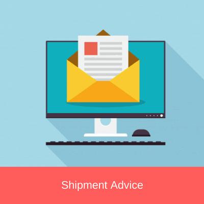 shipment advice