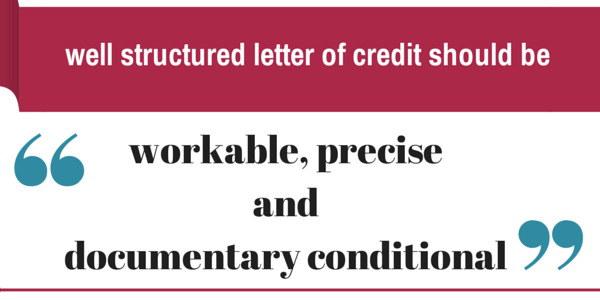 well structured letter of credit
